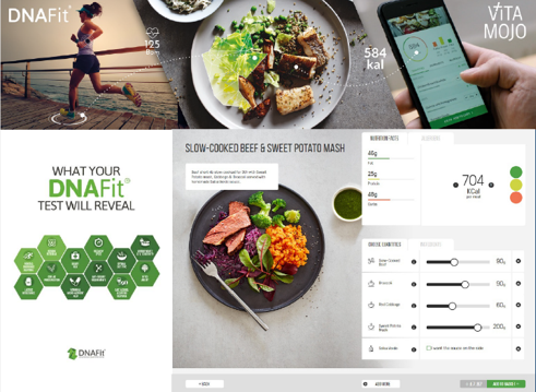 DNA-driven dinners with DNAFit and VitaMojo