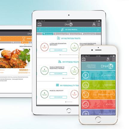 DNA24's daily companion app